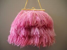 Ostrich feather bag
