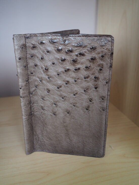 Ostrich Leather golf card sleeve