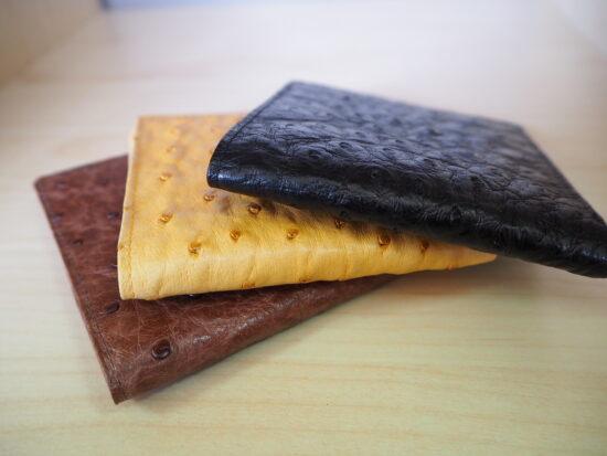 Mens Ostrich Card Wallet